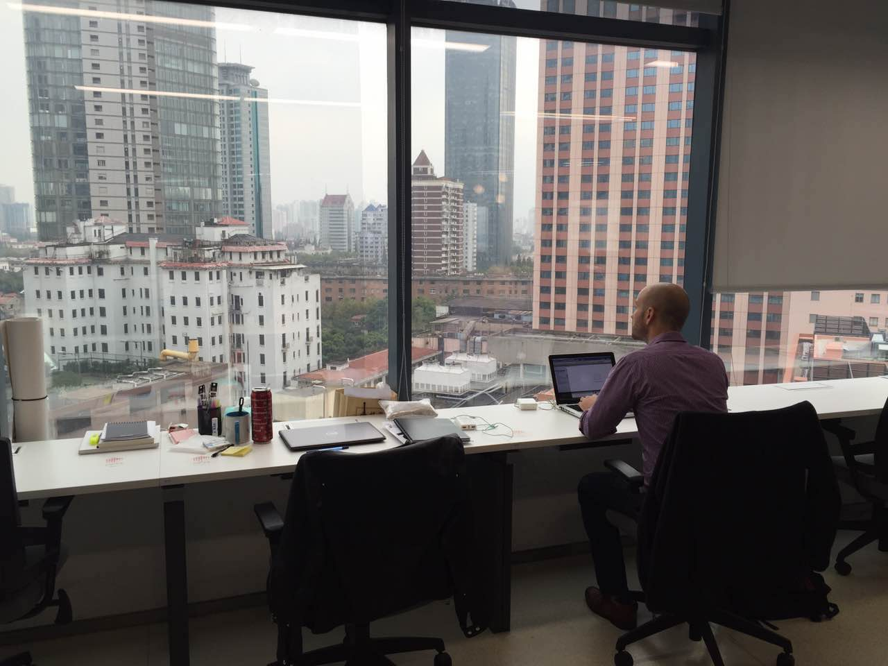 Matt in the Shanghai Office