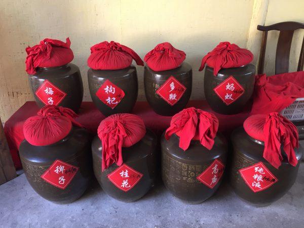 Chinese Wine Baijiu in pots