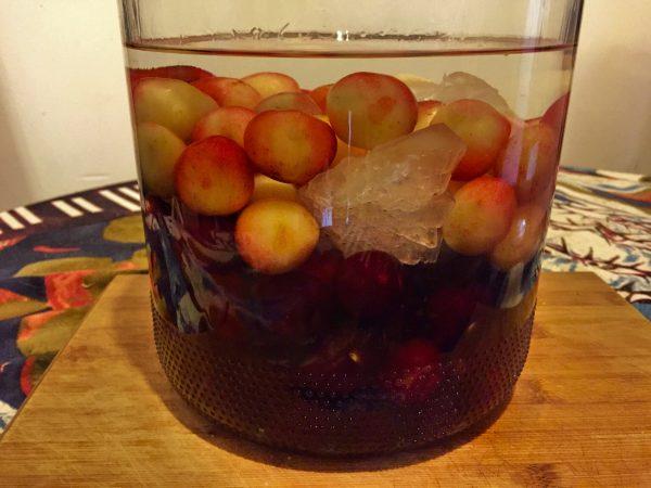 Baijiu, Fruit, Rock Sugar in a Jar