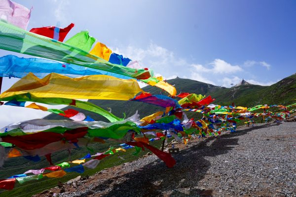 Colorful flags in Qinghai